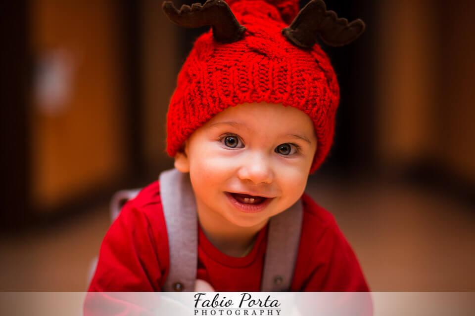 Samuele, 9 mesi a tutta simpatia   Fotografo bambini Modena